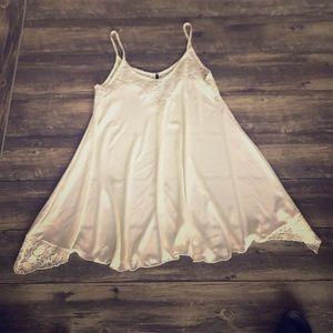 Dresses & Skirts - White lace dress /long top
